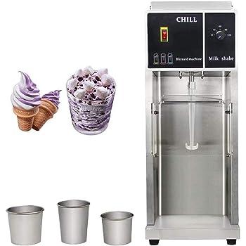 KUNHEWUHUA Ice Cream Mixer Milkshake Maker Chill Drink Master with 3 sizes of Stainless Steel Hand Cups 220v