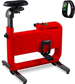 Happibuy Indoor Cycling Bike Office Exercise Bike Height Adjustable Cycle Exercise Bike Magnetic Adjust Resistance Easy Moving with App and Table