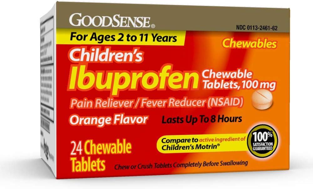 store GoodSense Children's Ibuprofen Chewable Tablets 100 C mg Cheap SALE Start 24