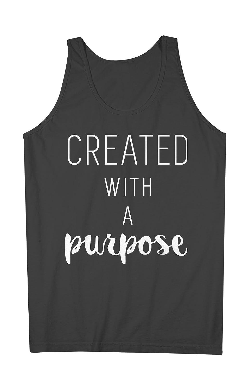 Created With A Purpose 皮肉な Artist 男性用 Tank Top Sleeveless Shirt