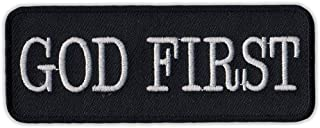 Patch (Sew On) - God First - Religion, God, Christian - 4