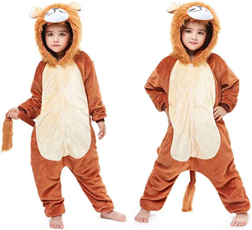 Pijamas de Le/ón Pijamas Enteros de Animales con Capucha M Halloween Navidad Regalos para Ni/ñas y Adolescentes 3-12 A/ños MMTX Pijamas Animal para Ni/ñas Ni/ños