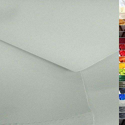 TOLKO wasserfest beschichteter Nylon Stoff | fester Segeltuch Planenstoff als Nylonplane für Aussenbereich | Reißfest und Langlebig | Meterware 150cm breit schwerer Outdoorstoff (Hellgrau)