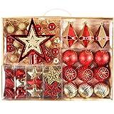 VALERY MADELYN 70 Piezas Bolas de Navidad de 3-6 cm, Adornos Navideños para Arbol,...