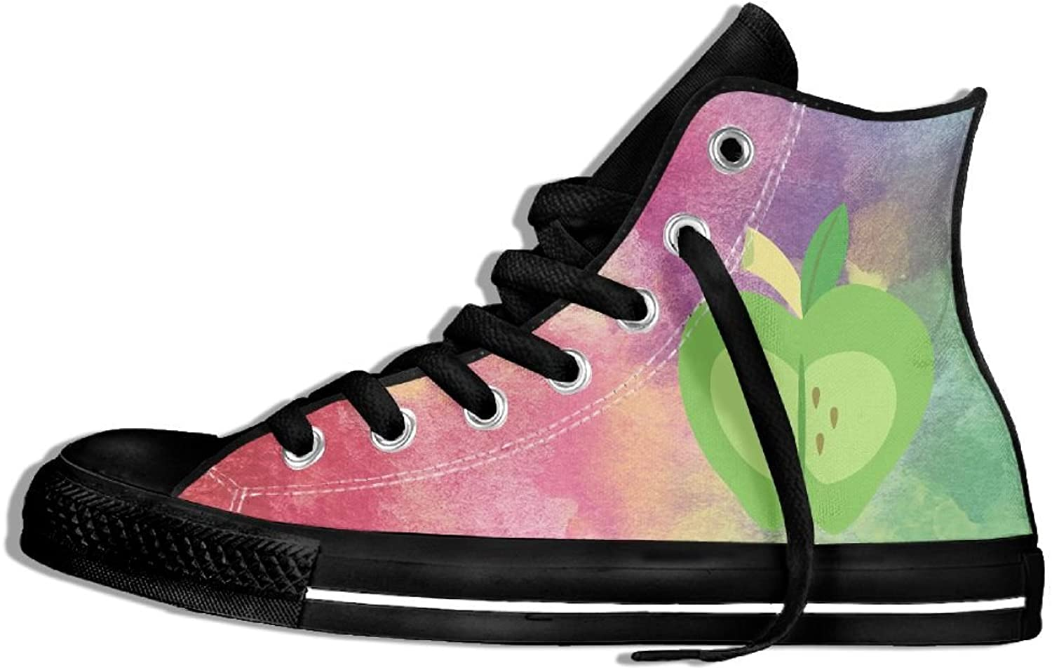 Apples Prismatic High Top Classic Casual Canvas Fashion shoes Sneakers For Women & Men