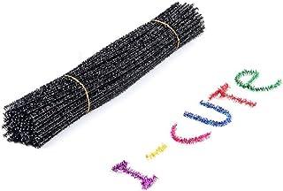 BESTOYARD 100 peças DIY hastes de chenille limpadores de cachimbo de pelúcia coloridos para arte criativa artesanato decor...