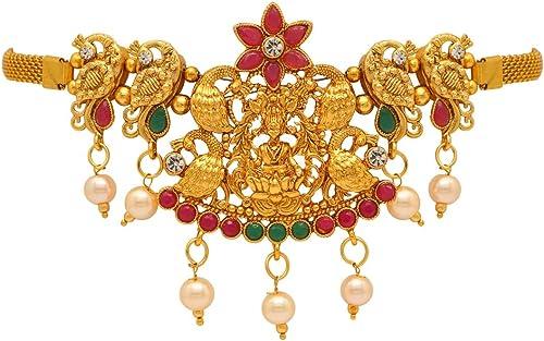Jaipur Mart Gold Golden Alloy Metal Bajuband(Armlet) for Women(BJB182MG)