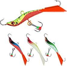 Goture Ice Fishing Jigs Spoon Metal Lure Set//3D-Eyes//Mini Size for Bass Pike Trout