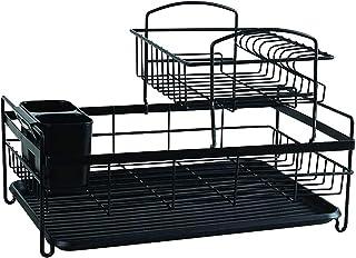 Séchoir à vaisselle, Porte-coutellerie Porte-coutellerie 2 Tier Plaque Pratique et Mode avec Drain Drain Drain Drain Drain...