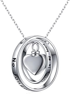 Cremation Jewelry Sterling Silver Urn Necklace for Ashes Keepsake Pendant Necklace