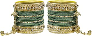 MUCH-MORE Gorgeous Collection Fashion Made of Latkan Bangles for Women & Girls