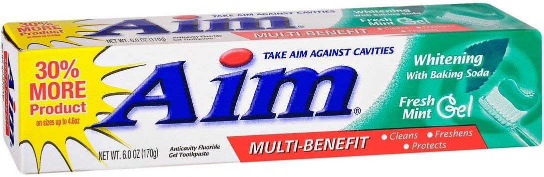 Aim Toothpaste Gel Nippon regular agency Whitening Mint oz 6 Pack 4 sale of