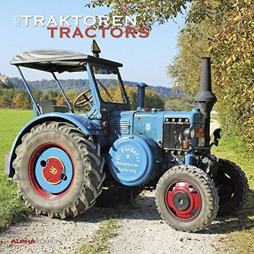 Traktoren 2021 - Broschürenkalender 30x30 cm (30x60 geöffnet) - Tractors - Bild-Kalender - Wandplaner - mit Platz für Notizen - Alpha Edition