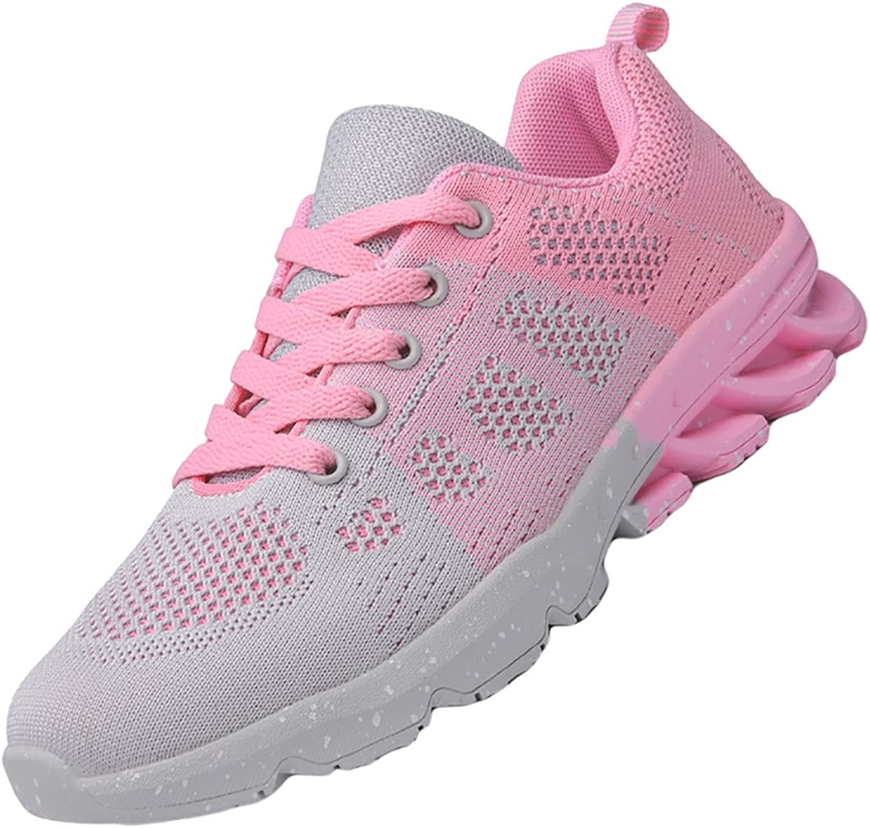 KUIBU Women Lightweight Sports Breathable Slip On Platform Toning Blade shoes Mesh Sneaker Athletic