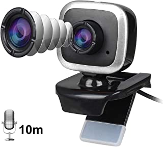 HXSJ A849 480P HD Webcam, CMOS 30fps USB PC Computer Video Camera Built in Microphone 360 Degree Rotatable for Live Streaming, Network Teaching, Conference, Desktop(Silver)