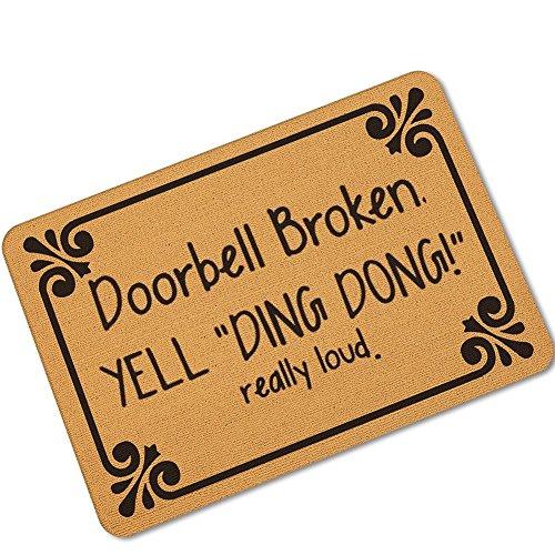 Awater Funny Doormats Bedroom Entrance Door Mat Pad Kitchen Absorbent Mat Anti-Slip Door Mat...