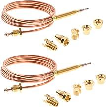 Sharplace 2 Piezas 90cm Conjunto de Reemplazo Termopar Calentador Agua Caldera Horno Gas
