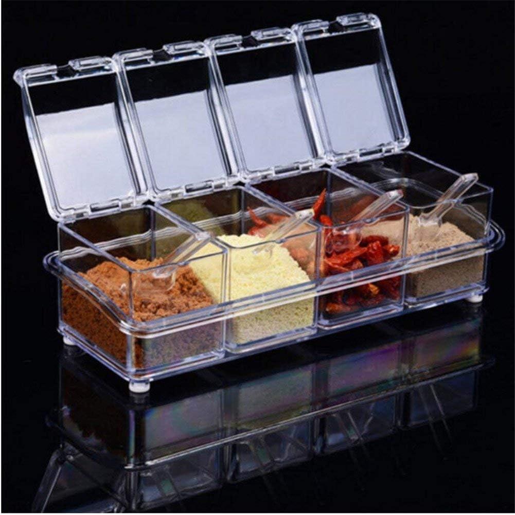 4pcs Set Kitchen Acrylic Seasoning Jar Spoons Spi Max 50% New Shipping Free Shipping OFF Serving 4
