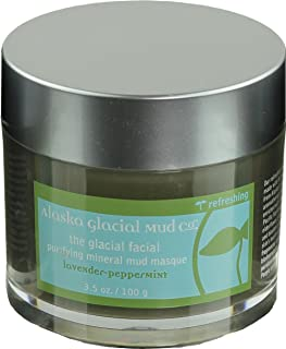 Alaska Glacial Facial Purifying Anti-Aging Mud Mask with Pure Mineral Rich Glacial Clay for All Skin Types - Lavender-Pepp...