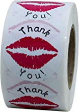 Hybsk Thank You Pink Kissing Lips Envelope Seals Stickers Total 300 Per Roll