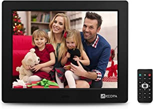 Arzopa 8 Inch Digital Photo Frame HD Widescreen Electronic Picture Frame Support Advertising Video and Pictures Player with Calendar Function and Remote Control