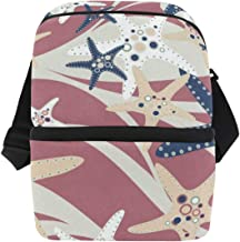 Lunch Bag Summer Starfish Insulated Cooler Bag Adult Leakproof refrigerator Box Zipper Tote Bags for Outdoor