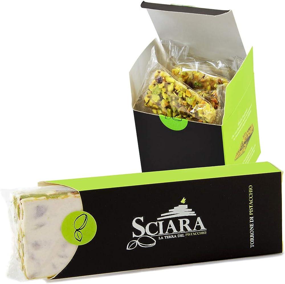 Sciara, kit dolci al pistacchio, croccantino e torrone di pistacchio,lavorazione artigianale