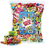 A Great Surprise Sour Party Mix - Appx. 3 LB Bulk: Warheads Extreme, Cry Baby Gumballs, Sour Patch, Sour Bites and Much More of Your Favorite Candy!