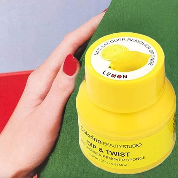 Panzisun Magic Gel Nail Polish Remover Melting Pot Easily Quickly Removes Nail Art Lacquer Removal Wraps Reusable Portable Non Irritating Lemon Scent D