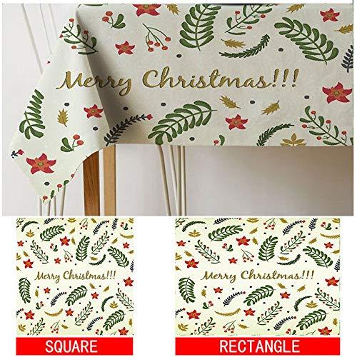 XXDD Mantel de celosía geométrica Mantel de impresión navideña Mantel de pañal decoración del hogar Cubierta de la Chimenea Mantel Cubierta de Tela A3 135x135cm