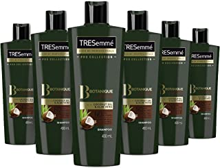 Tresemme Pro Collection Botanique Nourish and Replenish no Dyes or Silicones Shampoo for Dry Hair 400 ml Pack of 6