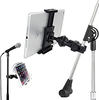 Accessory Basics QuickLock Microphone Music Mic Stand Pole bar Mount for Apple ipad Pro Air Mini Galaxy Tab S9 S10 Note iPhone 11 Pro XR XS MAX X 8 Plususe with All 7-12 Tablet & Smartphones