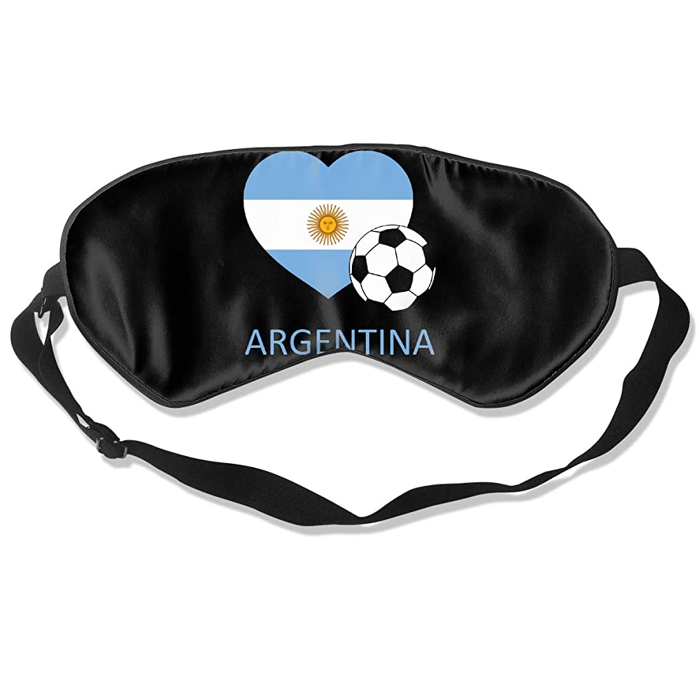 Love Argentina Soccer Eye Mask Sleeping Mask 100% Double-Sided Silk Eyeshade Eye Cover