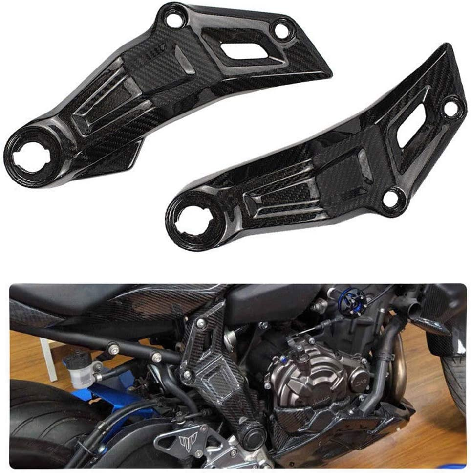 Rear Tailstock Sidewall Frame Panel Tail for Yamaha MT07 FZ07 2013-2016 Motorcycle Tailstock Side Panel Cover Carbon Fiber Frame Slider