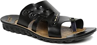 PARAGON Men's Black Outdoor Sandals - 6 UK (39.5 EU) (7 US) (A1PU66010GBLK00006G329)