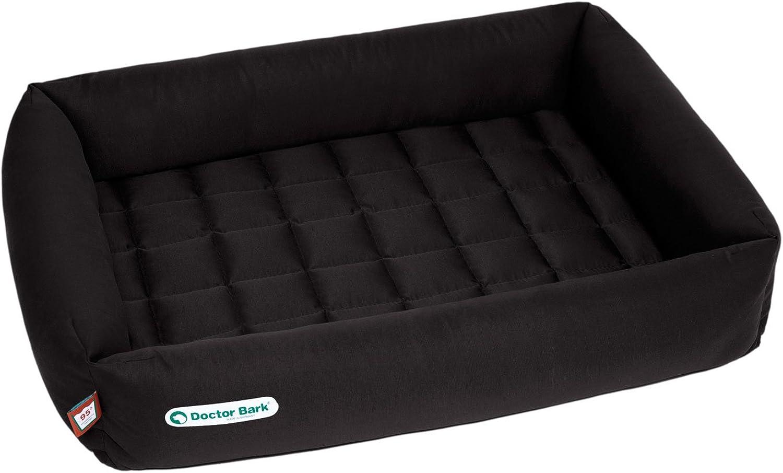 Doctor Bark Dog Bed, Large, Black