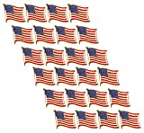 Juvale American Flag Lapel Pins (USA, Bulk, 24 Pack)