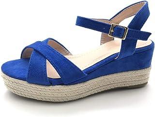 cf8ae2e1937c4e Angkorly - Chaussure Mode Sandale Espadrille Plateforme Femme Corde Talon  compensé Plateforme