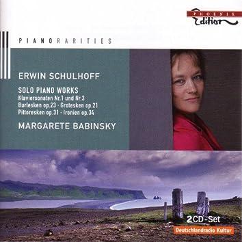 Schulhoff, E.: Piano Music