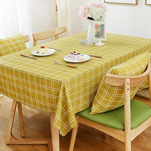 ZWL Maillot en maille à table voiturerée Toile en lin Table à café Rectangé Tissu de table Nacelle pour ordinateur , Ajoutez de la vitalité à la cuisine ( Couleur    3 , taille   140200CM )