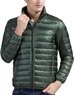femaroly Men's Thin Down Jacket Autumn Winter Light Weight Packable Puffer Warm Insulation Coat