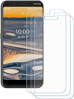TTJ 3 stycken skottsäkert glas skyddsfolie för Nokia C2 Tenner, 9H hårdhet härdat glas pansarglasfilm anti-rep/anti-finger...