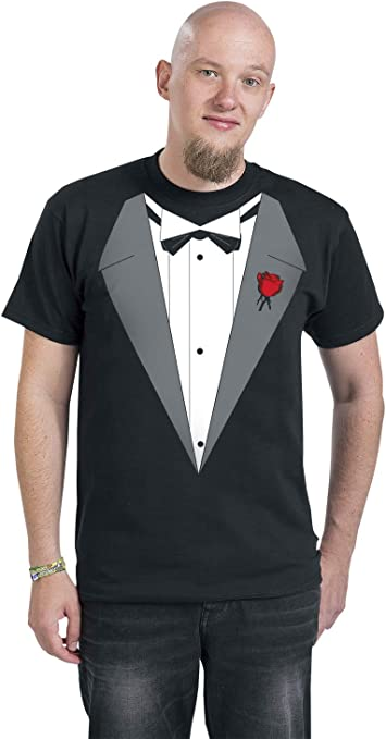 Vito´s Smoking Hombre Camiseta Negro, Regular