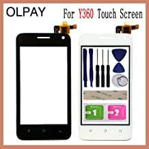 """KINGCOM-Mobile Phone Touch Panel - 4.0"""" For Huawei Ascend Y360 Y336 Y3 Y336-U02 Touch Screen Glass Digitizer Panel Lens Sensor Glass Free Adhesive And Wipes (Black With Tools)"""