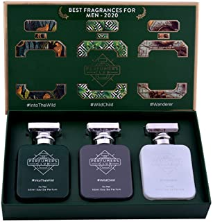 """Perfumer's Club""""Best Fragrance for Men 2021"""" Gift Set of 3(Into The Wild + Wild Child + Wanderer) Upto 24 hrs lasting (Eau..."""