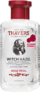 Thayers Alcohol-Free Rose Petal Witch Hazel Facial Toner with Aloe Vera Formula , 2 Pack - (2 x 12 ounce bottles)