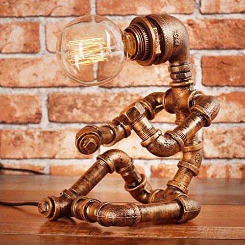 Preisvergleich Produktbild YU-K Roboter kreative Bügeleisen Wasser Röhrenlampe Retro Industrie Edison die Glühbirne ruhenden Stil Studie Bar Bar Cafe Dimmer,  04.