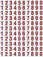 (シャシャン)XIAXIN 防水 PVC製 アルファベット ステッカー セット 耐候 耐水 数字 キャラクター ミニサイズ 表札 スーツケース ネームプレート ロッカー 屋内外 兼用 TSS-107 (1点, レッド)