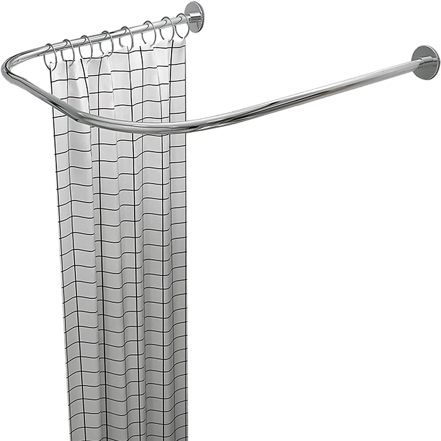Curved We OFFer at cheap prices Fashion Shower Curtain Rods for U Bathroom Shaped Stainless Steel
