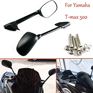Motorcycle Side Mirrors Rearview Mirror Fit For Yamaha T-MAX 500 2008 2009 2010 2011